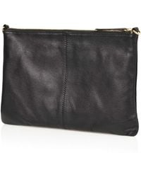 Topshop Twisted Leather Clutch - Lyst