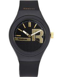 Reebok - Rc-Ibm Black & Gold-Tone Watch - Lyst