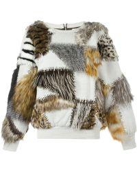 Ashish - Embellished Faux Fur Sweater - Lyst