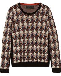 Rag & Bone Mariah Printed Wool Sweater - Lyst