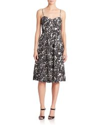 Joie Vivany Printed Fit-&-Flare Dress - Lyst