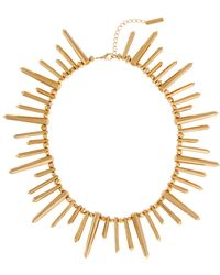 Rachel Zoe 12K Gold Plated Spike Necklace gold - Lyst