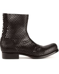 Obscur - Perforated Ankle Boot - Lyst
