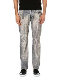 Roberto Cavalli Fur Print Slimfit Jeans Grey - Lyst