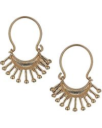 Topshop Freedom Found Stick Earrings  Gold - Lyst