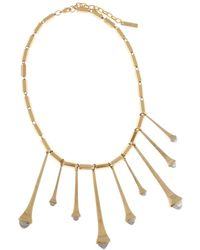 Rachel Zoe Facets Two-tone Spike Necklace - Lyst