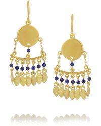 Chan Luu Goldplated Lapis Lazuli Earrings - Lyst