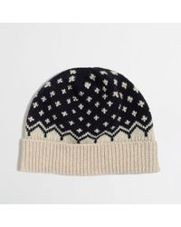J.Crew Factory Cross-Dot Knit Hat - Lyst