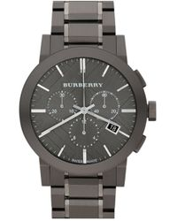 Burberry - Large Chronograph Bracelet Watch - Lyst