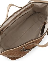 Halston Heritage Studembossed Satchel Bag Dark Ash - Lyst