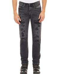 Levi's Distressed Needle-Fit Jeans black - Lyst