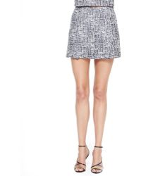 Joie Tabby Printed Sateen Skirt - Lyst
