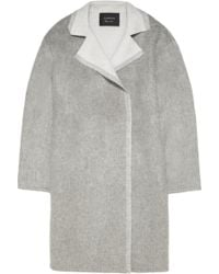 Lanvin Oversized Wool and Mohair-blend Coat - Lyst