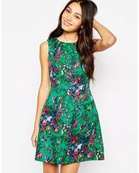 Oasis Bloom Bird Print Dress - Lyst
