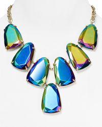 "Kendra Scott Harlow Iridescent Necklace, 18"" - Blue"