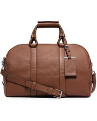 Michael Kors Bennett Medium Pebbled-Leather Duffel - Lyst