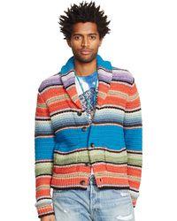Denim & Supply Ralph Lauren Striped Cotton-Linen Cardigan - Lyst