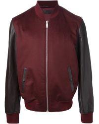 Alexander McQueen Bicolour Varsity Jacket - Lyst