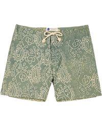 Industry of All Nations Green Madras Batik Board Short - Lyst