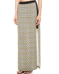Cut25 by Yigal Azrouël - Printed Long Skirt - Lyst