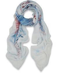 Simeon Farrar   White Union Flag Silk Scarf   Lyst