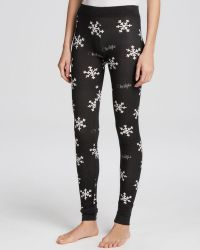 Wildfox Leggings - Snowflake Thermal Knit - Lyst