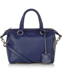 Karen Millen Mini Bowler Bag blue - Lyst