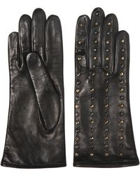 Mario Portolano Micro Studded Nappa Leather Gloves - Lyst