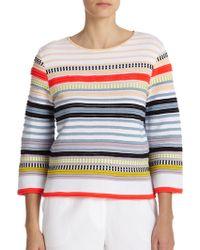 Suno Textured Stripe Top - Lyst