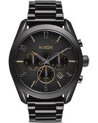 Nixon 'The Bullet Chrono' Watch black - Lyst