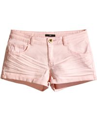 H&M Short Twill Shorts - Lyst