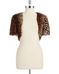 Marina - Cheetah-Print Faux-Fur Bolero - Lyst