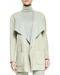 Ralph Lauren Collection Helene Suede Drape-neck Jacket - Lyst