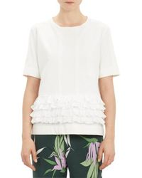 Marni Ruffled Short Sleeve Top - Lyst