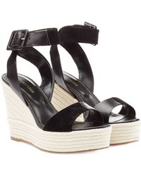 Sergio Rossi Leather Wedges - Lyst