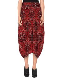 M Missoni 3/4 Length Skirt red - Lyst