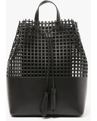 Loeffler Randall - Perforated Leather Drawstring Backpack - Lyst