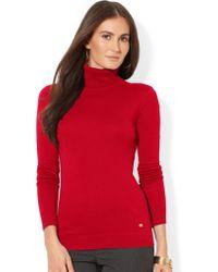 Lauren by Ralph Lauren Petite Turtleneck Sweater - Lyst