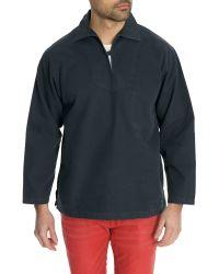 Armor Lux   Original Navy Blue Cotton Pea Coat   Lyst