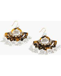 J.Crew Tortoise Flower Chandelier Earrings beige - Lyst