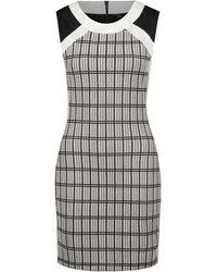 Dex Check Jacquard Sleeveless Dress - Lyst