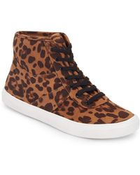 DV by Dolce Vita | Serene Leopard-Print High-Top Sneakers | Lyst