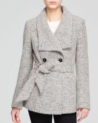 Calvin Klein Coat - Wrap Boucle Wool - Lyst