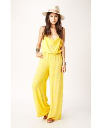 Indah Palazzo Pant Jumpsuit yellow - Lyst