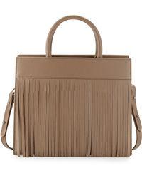 Posse Beverly Leather Fringe Satchel Bag Lyst
