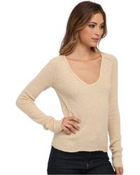 Free People Everyday V Sweater - Lyst
