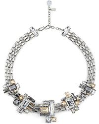 Atelier Swarovski - Manhattan Swarovski-crystal Embellished Palladium Small Necklace - Lyst