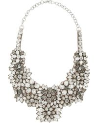 Valentino Romantic Flowers Crystal and Satin Bib Necklace - Lyst