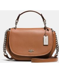 6b5e7ba0e ... wholesale coach nomad top handle crossbody in glovetanned leather lyst  47cfd 4a552