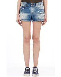 Bliss and Mischief - Women's Painter Denim Shorts - Lyst